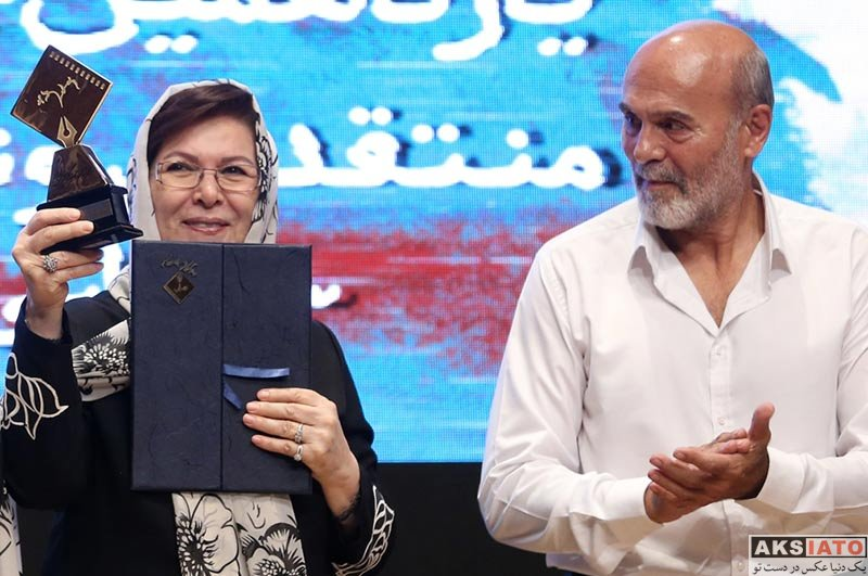 جشن منتقدان و نویسندگان خانوادگی  جمشید هاشم پور و دخترش در یازدهمین جشن منتقدان سینمای ایران