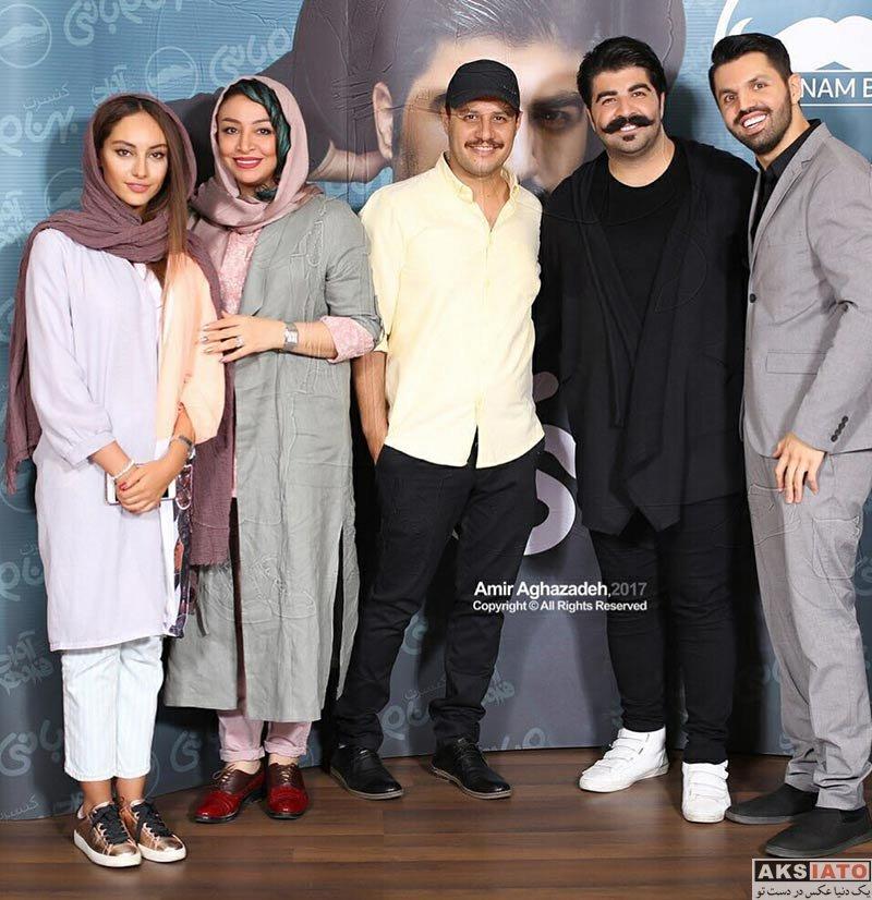 خانوادگی  جواد عزتی و همسرش در کنسرت بهنام بانی (2 عکس)