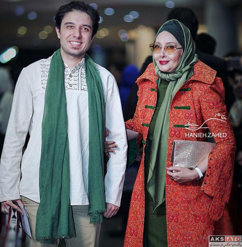 جشن حافظ خانوادگی  کتایون ریاحی و پسرش در هفدهمین جشن حافظ