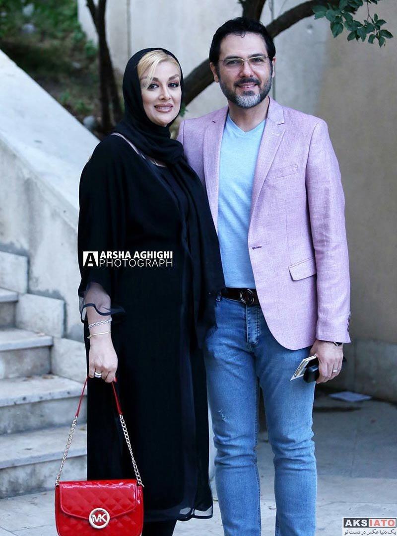 جشن منتقدان و نویسندگان خانوادگی  کوروش تهامی و همسرش در یازدهمین جشن منتقدان سینمایی ایران