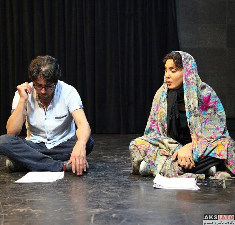 بازیگران بازیگران زن ایرانی  لیلا بلوکات با چادر رنگی در تمرین نمایش جدیدش (3 عکس)