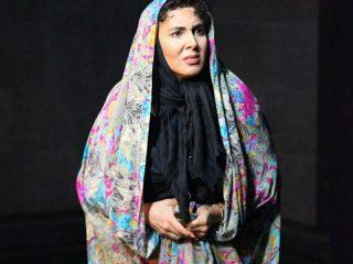 عکسهای لیلا بلوکات با چادر رنگی در تمرین نمایش جدیدش