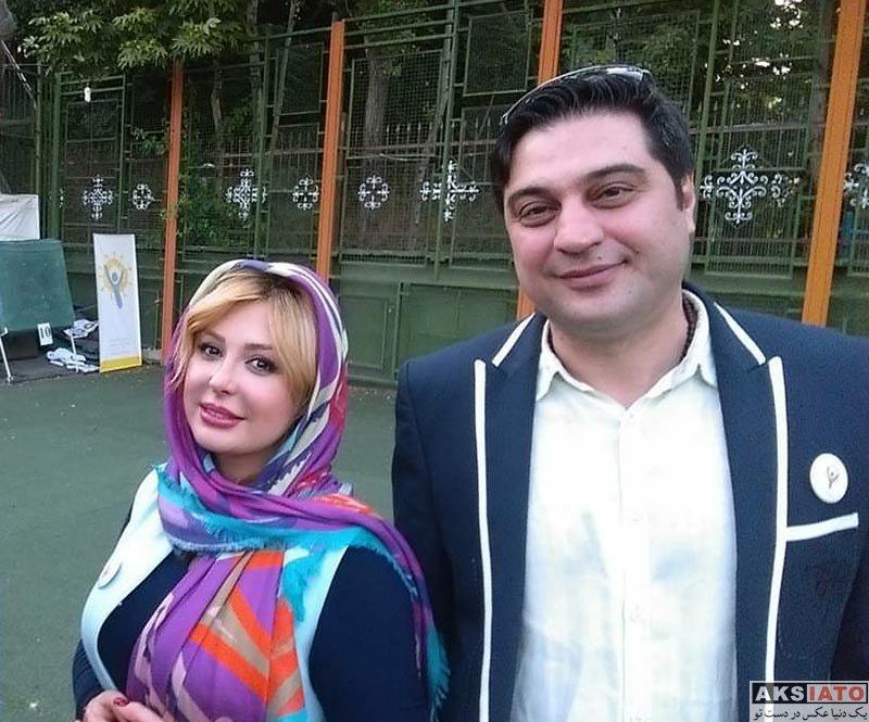 بازیگران بازیگران زن ایرانی  نیوشا ضیغمی در مسابقات تیر و کمان در باشگاه دانا (4 عکس)