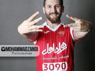 عکس های آتلیه رضا پرستش (مسی ایرانی) با لباس پرسپولیس