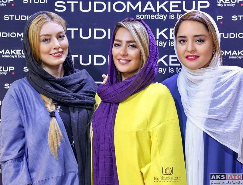 بازیگران بازیگران زن ایرانی  سمانه پاکدل و سحر قریشی در نمایشگاه زیبایی (3 عکس)