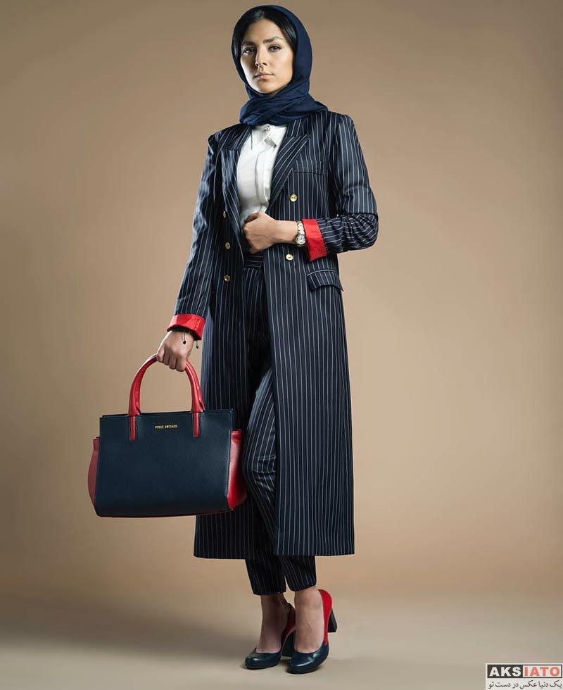عکس آتلیه و استودیو  عکس های تبلیغاتی هدی زین العابدین برای برند کیف کفش