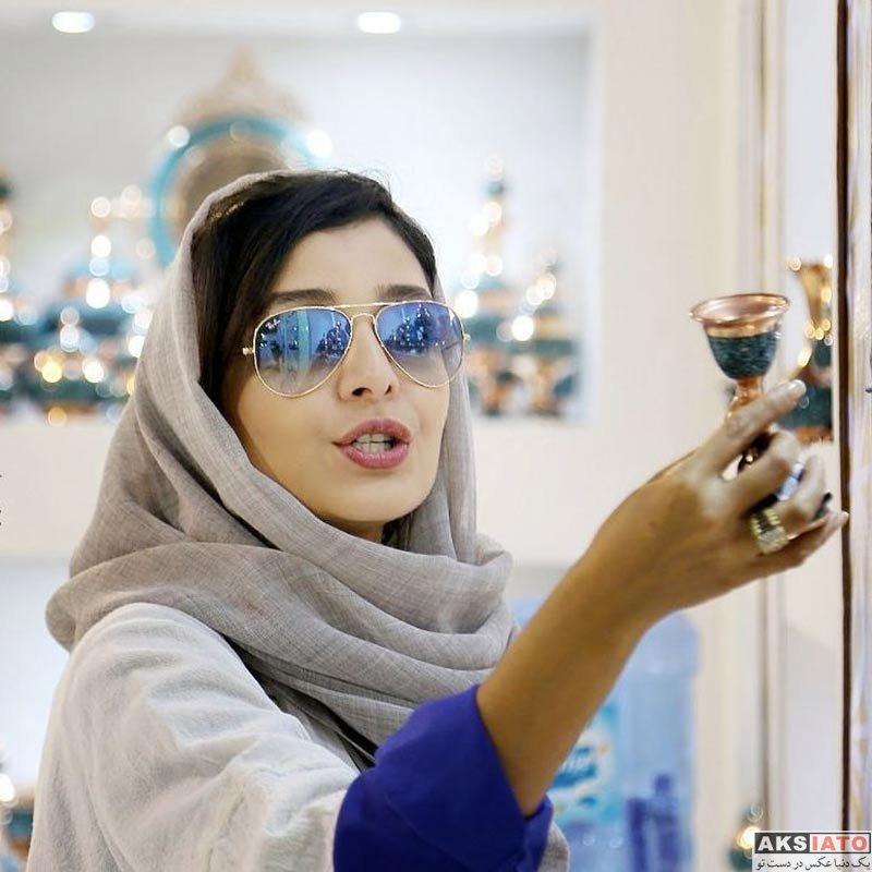 بازیگران بازیگران زن ایرانی  ساره بیات در نمایشگاه ملی صنایع دستی (4 عکس)