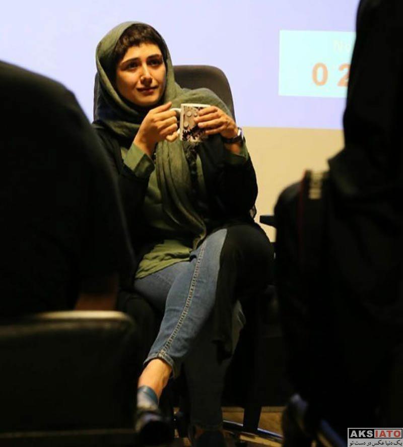 بازیگران بازیگران زن ایرانی  باران کوثری در جلسه نقد و بررسی فیلم کوچه بی نام (3 عکس)