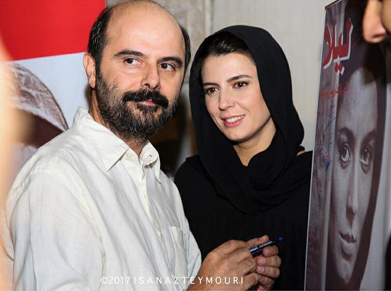 بازیگران زن ایرانی خانوادگی  لیلا حاتمی و همسرش در افتتاحیه فیلم لیلا (5 عکس)