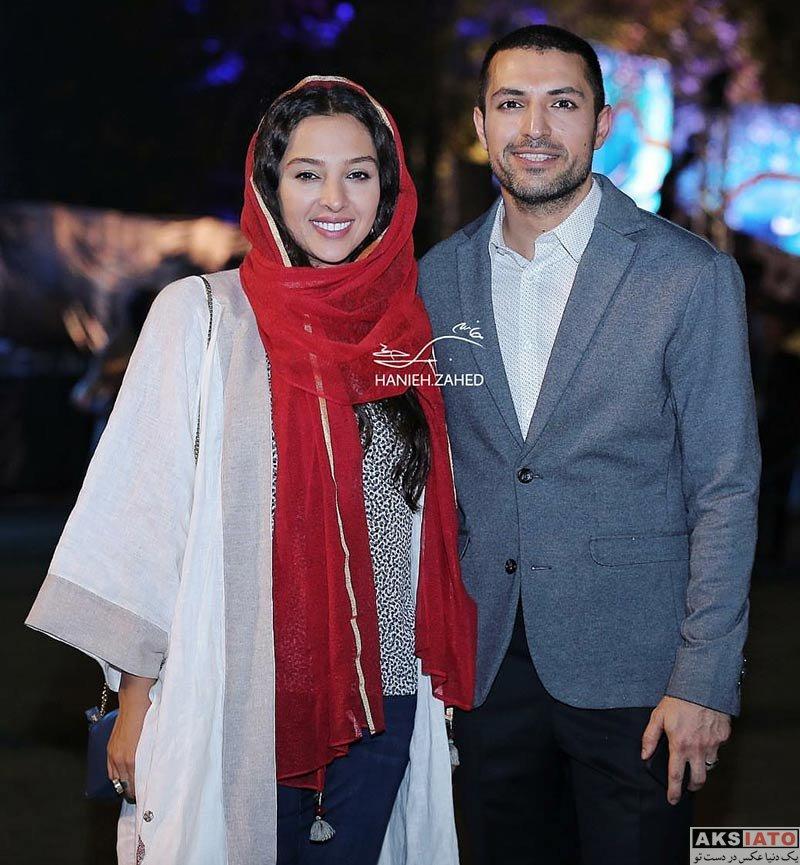 خانوادگی  اشکان خطیبی و همسرش در نوزدهمین جشن خانه سینما (2 عکس)