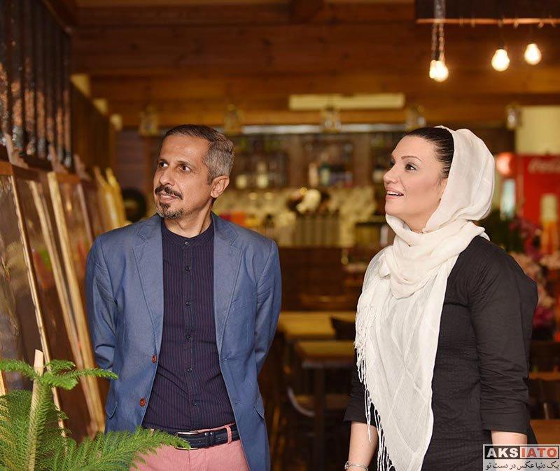 بازیگران بازیگران زن ایرانی  الهام پاوه نژاد در مراسم افتتاح کافه جواد رضویان (۴ عکس)