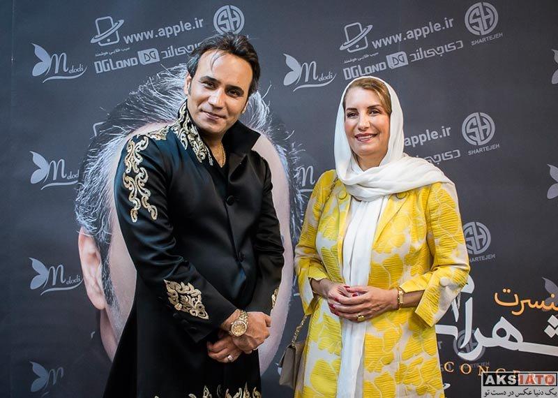 بازیگران بازیگران زن ایرانی  فریبا کوثری در کنسرت شهرام شکوهی (2 عکس)