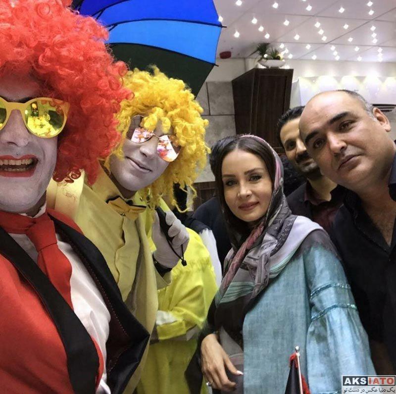 خانوادگی  حدیث فولادوند و همسرش در جشن تولد مهران غفوریان (۴ عکس)