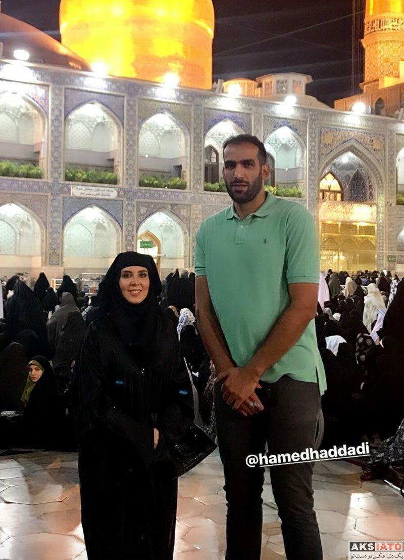 بازیگران بازیگران زن ایرانی  لیلا بلوکات و حامد حدادی در مشهد مقدس (3 عکس)