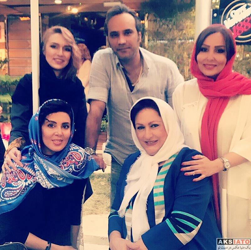 بازیگران بازیگران زن ایرانی بازیگران مرد ایرانی  هنرمندان و ورزشکاران در مراسم افتتاح کافه جواد رضویان (6 عکس)
