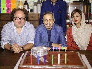 عکسهای هنرمندان و ورزشکاران در مراسم افتتاح کافه جواد رضویان