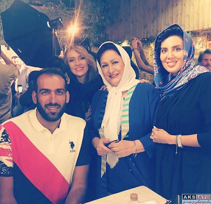 بازیگران بازیگران زن ایرانی  لیلا بلوکات در مراسم افتتاحیه کافه جواد رضویان (4 عکس)