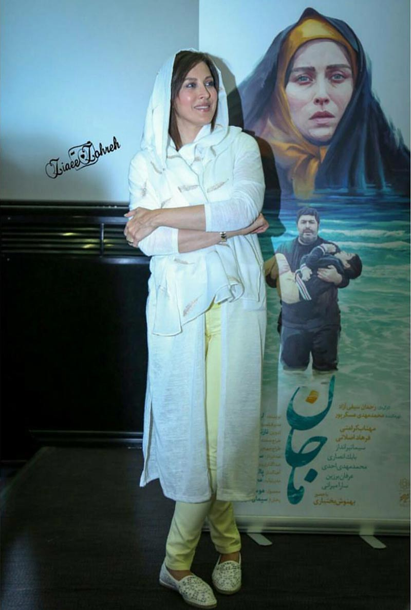 بازیگران بازیگران زن ایرانی  مهتاب کرامتی در اکران مردمی فیلم ماجان (5 عکس)