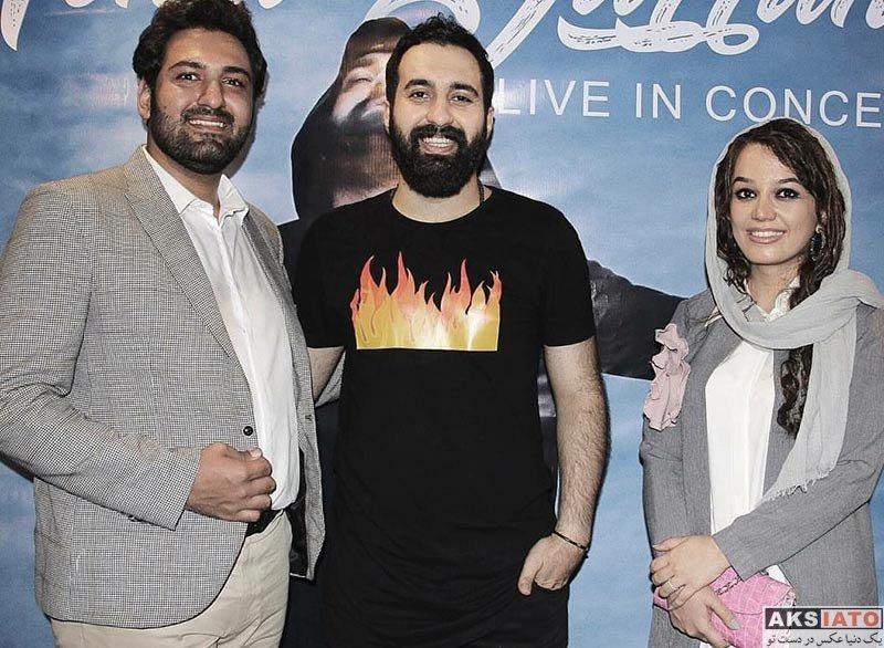 خانوادگی شاعر و ترانه سرا  مونا برزویی و همسرش در کنسرت مهدی یراحی (۴ عکس)