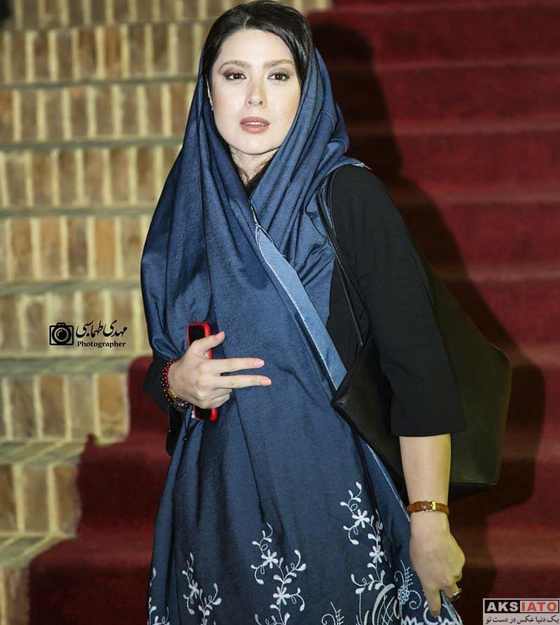 بازیگران بازیگران زن ایرانی  نازنین کریمی در افتتاحیه آمفی کافه (3 عکس)