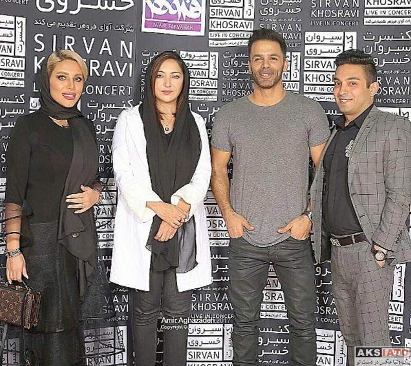بازیگران بازیگران زن ایرانی  نیکی کریمی در آخرین کنسرت سیروان خسروی