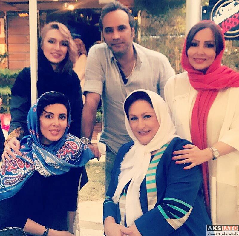 بازیگران بازیگران زن ایرانی  پرستو صالحی در مراسم افتتاح کافه جواد رضویان (3 عکس)