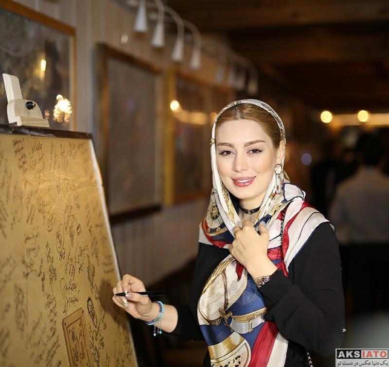 بازیگران بازیگران زن ایرانی  سحر قریشی در مراسم افتتاحیه کافه جواد رضویان (۴ عکس)