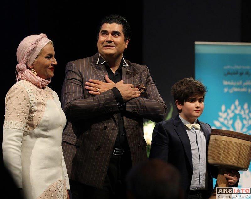 خانوادگی  سالار عقیلی و همسرش در مراسم نکوداشت «فخری ملک پور»