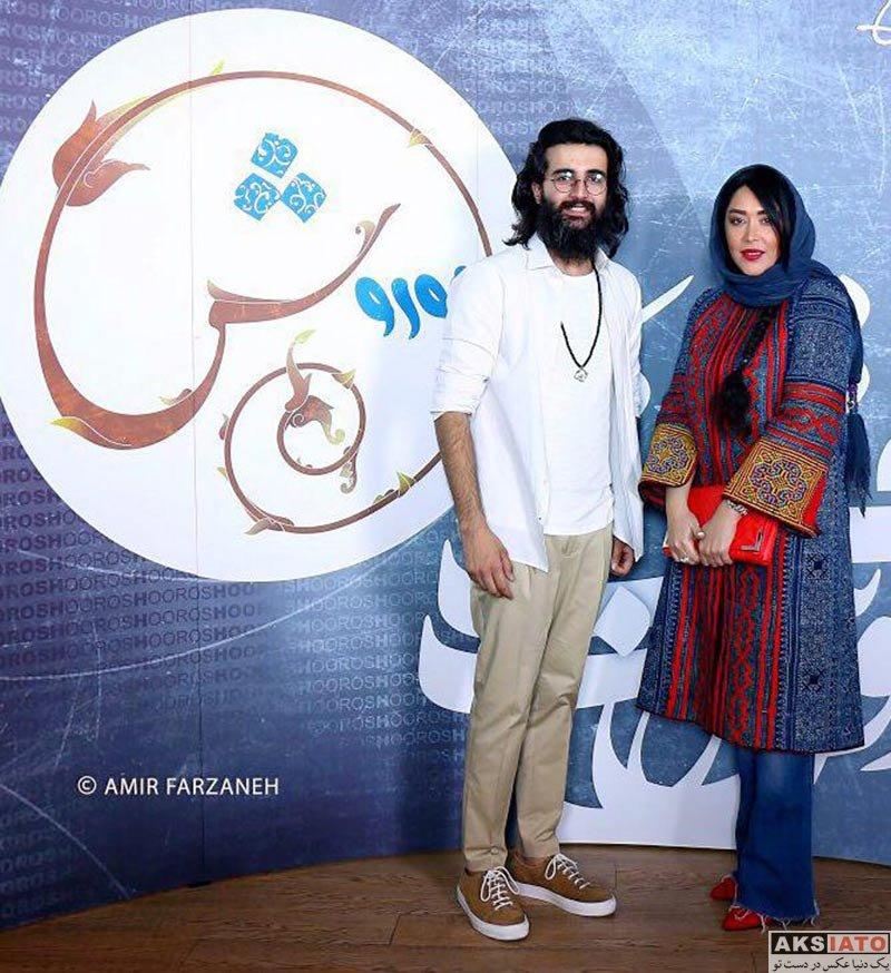 بازیگران بازیگران زن ایرانی  سارا منجزی و برادرش در کنسرت هوروش بند (2 عکس)