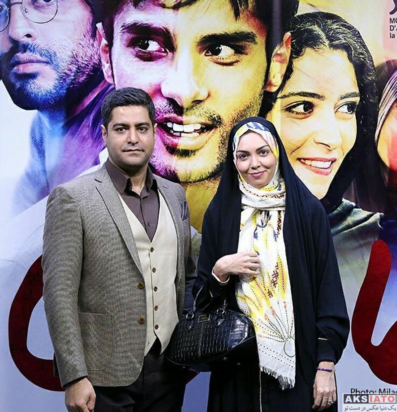 خانوادگی مجریان  آزاده نامداری و همسرش در اکران خصوصی فیلم مالاریا (5 عکس)
