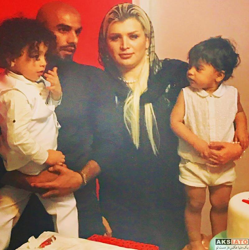 خانوادگی  عادل کلاه کج در کنار همسر و فرزندش (2 عکس)