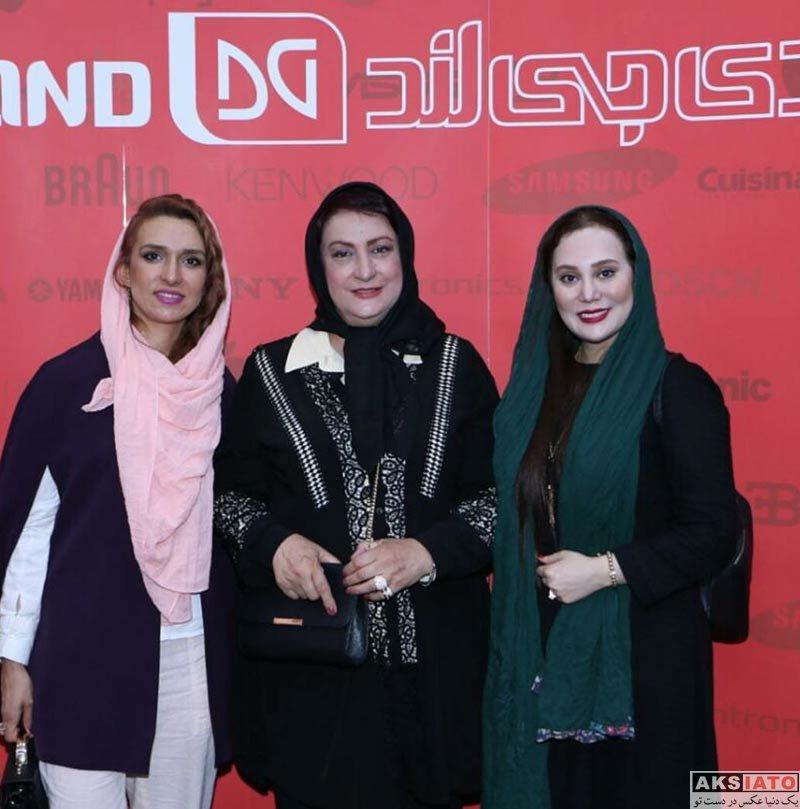 بازیگران بازیگران زن ایرانی  آرام جعفری در مراسم افتتاحیه دی جی لند (4 عکس)