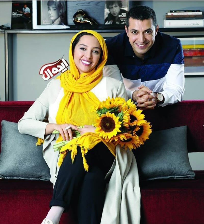 عکس آتلیه و استودیو  عکس های اشکان خطیبی و همسرش برای مجله ایده آل