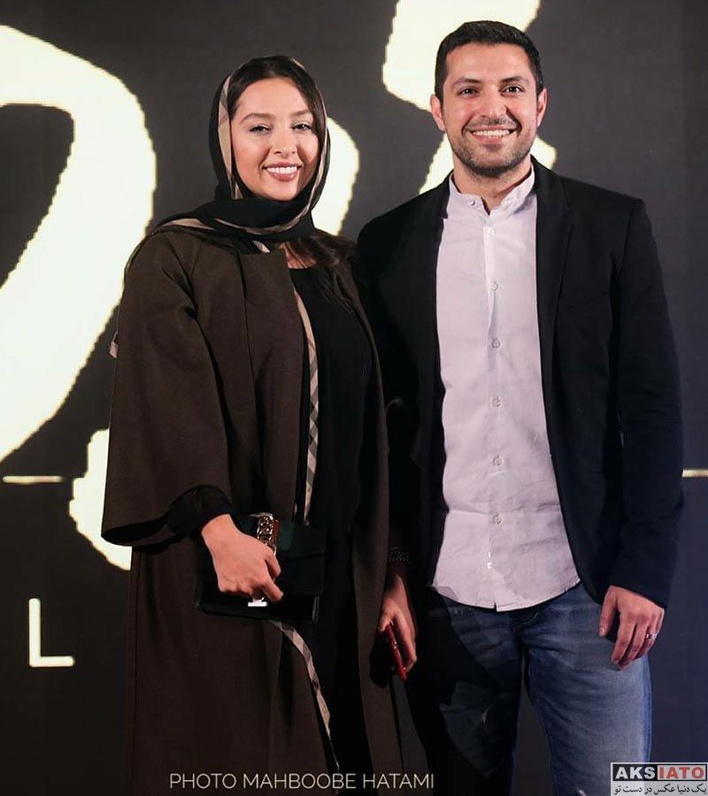 خانوادگی  اشکان خطیبی و همسرش در اکران خصوصی فیلم زرد (۳ عکس)