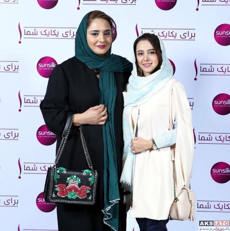 بازیگران بازیگران زن ایرانی  الناز حبیبی و نرگس محمدی در جشن سانسیلک (2 عکس)