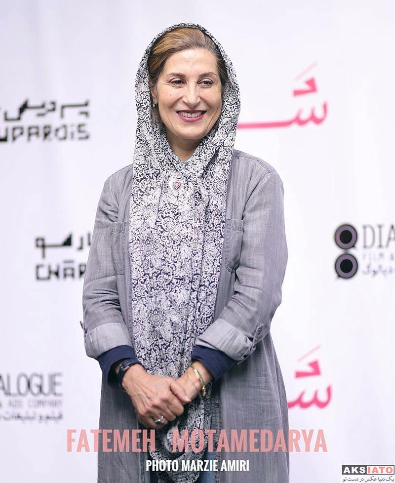 بازیگران بازیگران زن ایرانی  فاطمه معتمد آریا در افتتاحیه فیلم شنل (۳ عکس)