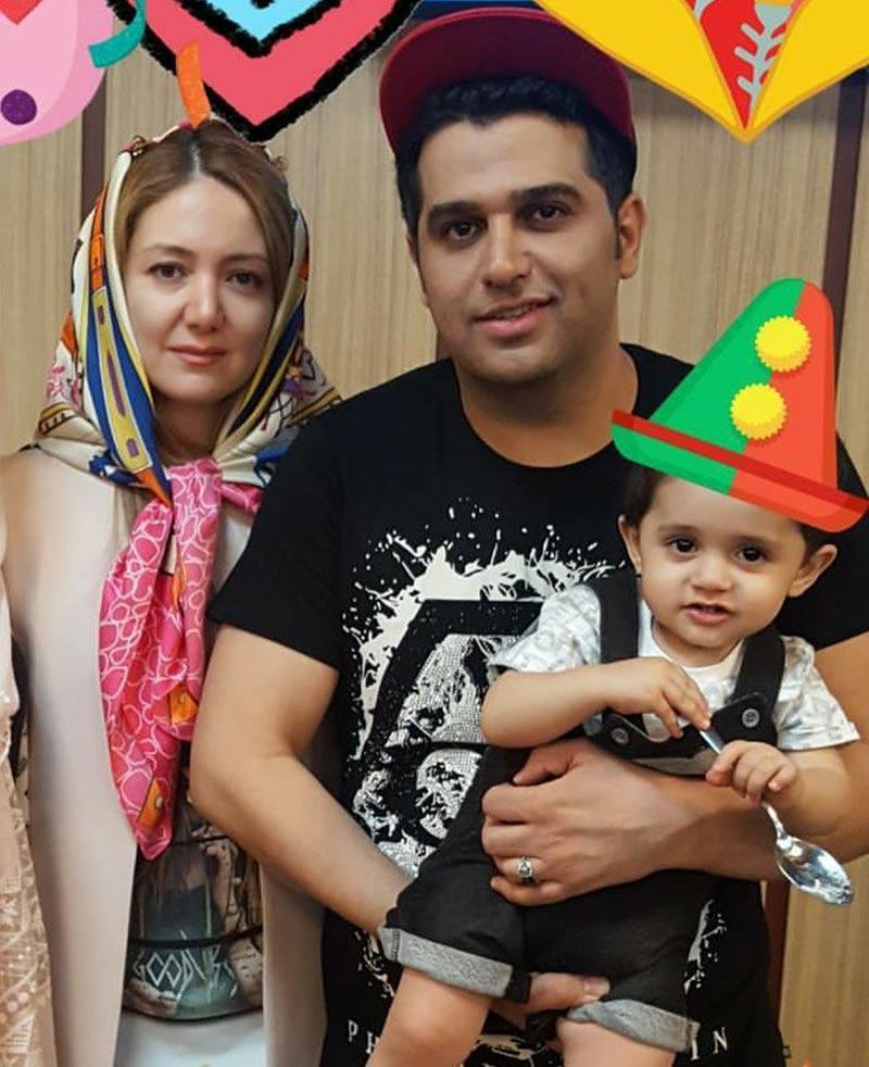 خانوادگی  جشن تولد حمید عسکری در کنار همسرش