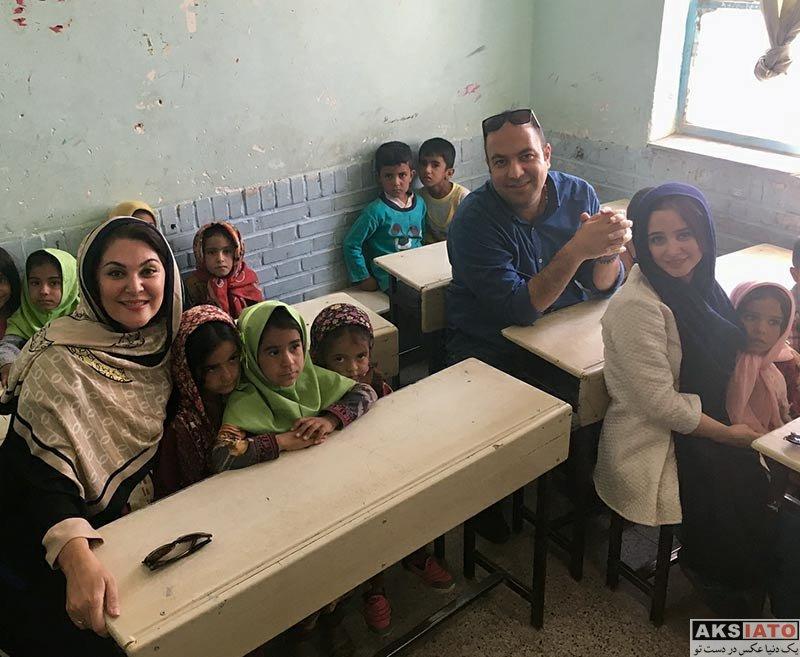بازیگران بازیگران زن ایرانی  لاله اسکندری در مناطق محروم خراسان جنوبی (3 عکس)