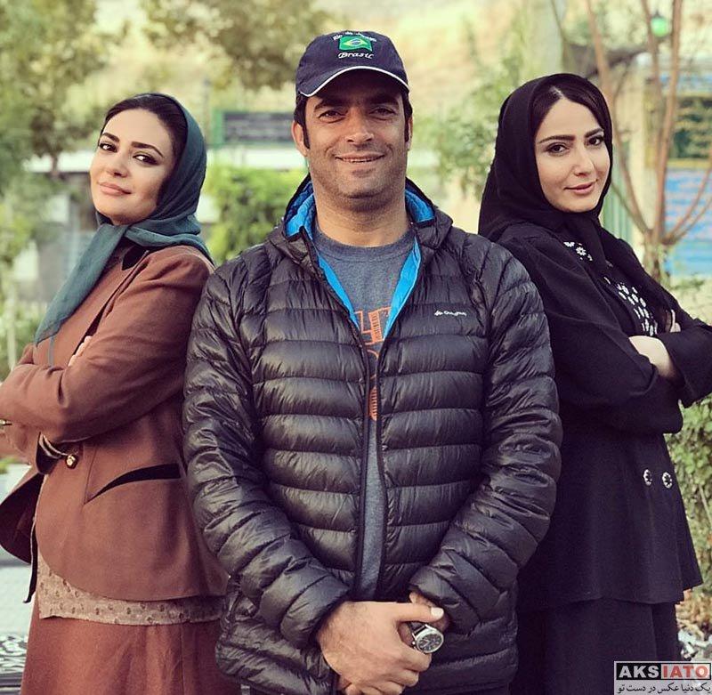 بازیگران بازیگران زن ایرانی  لیندا کیانی و بازیگران در سر صحنه سریال پاهای بی قرار (4 عکس)