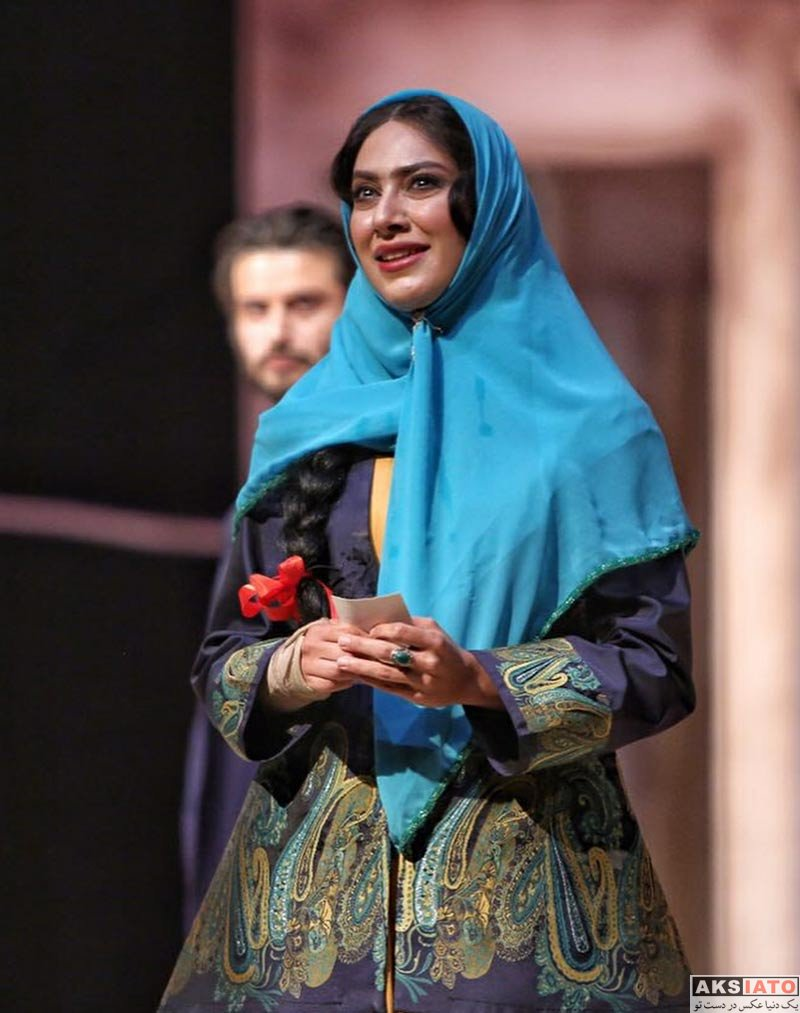 بازیگران بازیگران زن ایرانی  مونا فرجاد گریم متفاوت در نمايش كلنل (4 عکس)