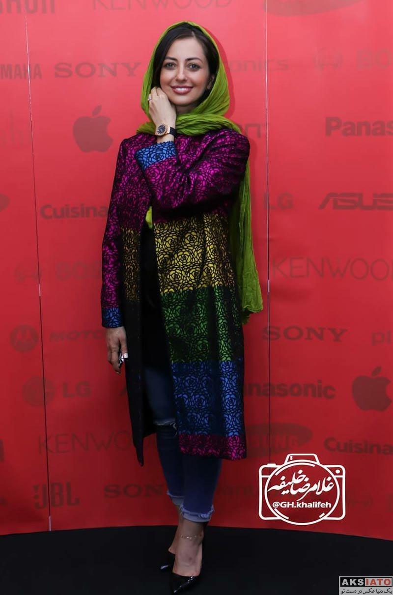 بازیگران بازیگران زن ایرانی  نفیسه روشن در مراسم افتتاحیه دی جی لند (2 عکس)