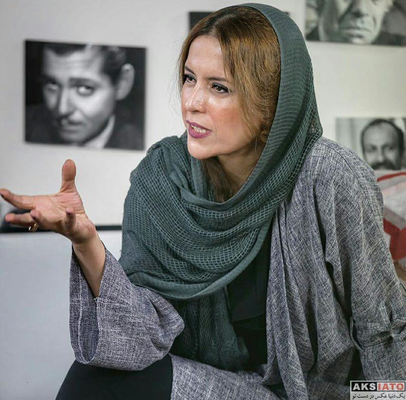 بازیگران بازیگران زن ایرانی  نازنین فراهانی در برنامه آپاراتچی (2 عکس)