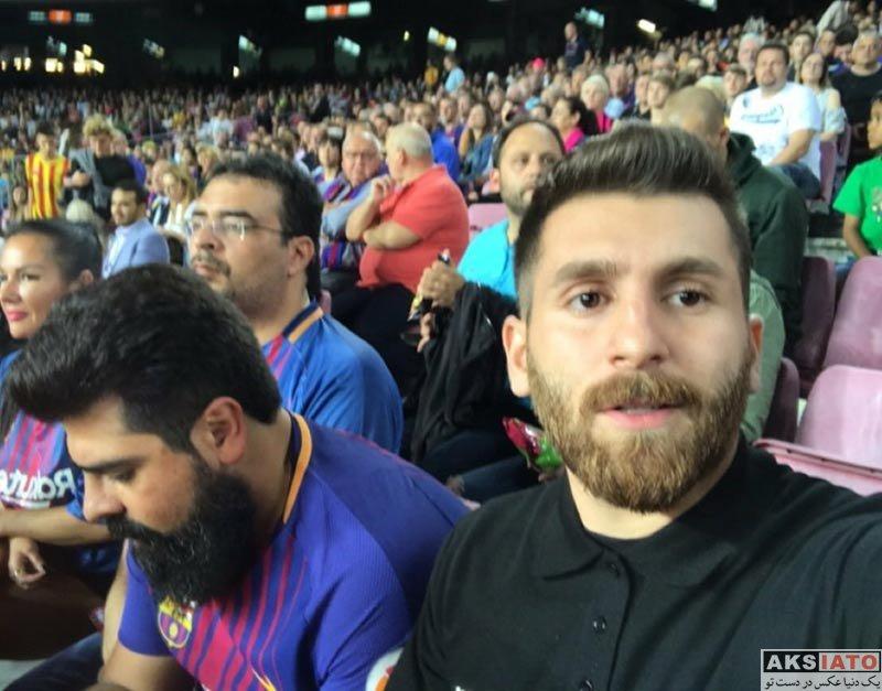 ورزشکاران ورزشکاران مرد  رضا پرستش (مسی ایرانی) در ورزشگاه نیوکمپ (4 عکس)