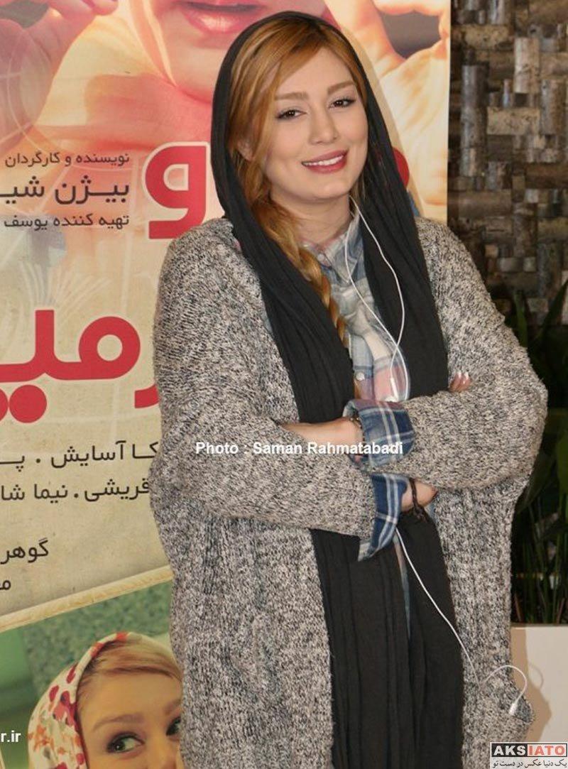 بازیگران بازیگران زن ایرانی  سحر قریشی در اکران مردمی «من و شارمین» در مگامال (6 عکس)