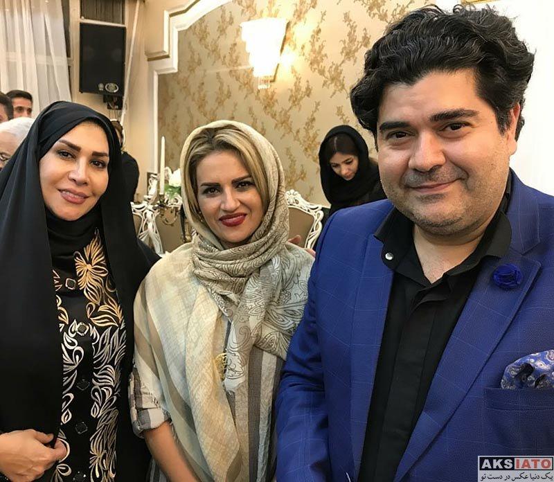 بازیگران بازیگران زن ایرانی  سالار عقیلی و همسرش در مراسم بزرگداشت استاد نادر گلچين