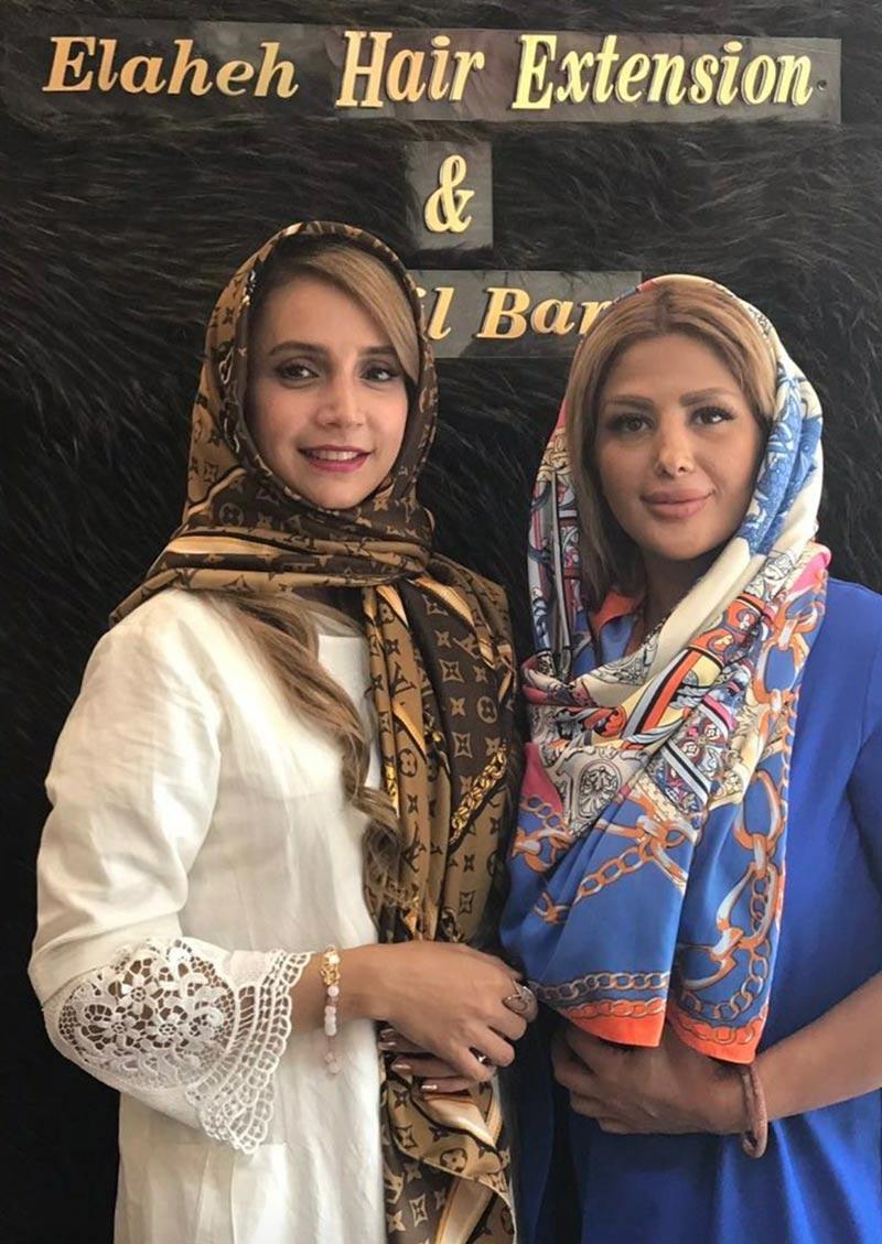 بازیگران بازیگران زن ایرانی  شبنم قلی خانی در سالن آزایش و زیبایی (2 عکس)