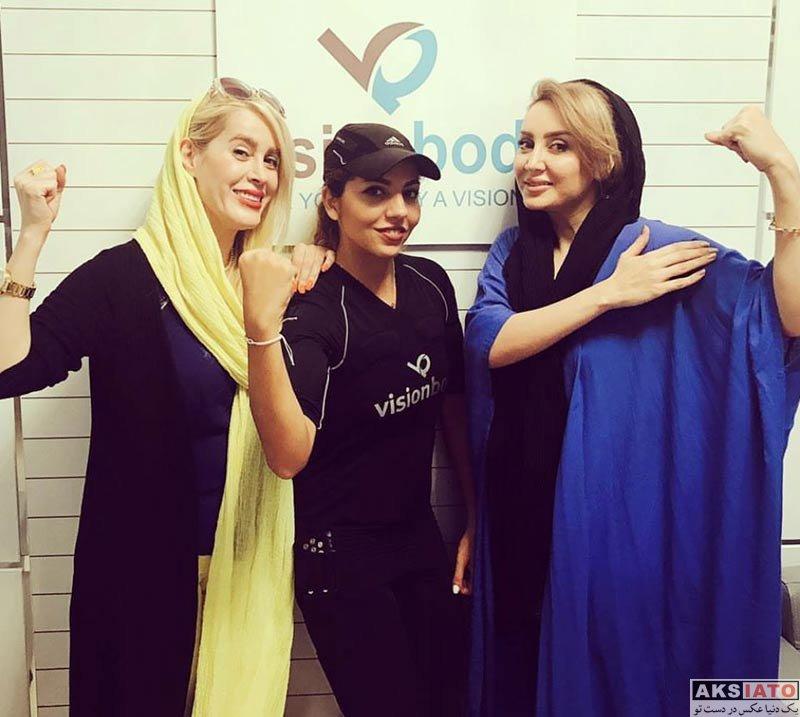 بازیگران بازیگران زن ایرانی  سولماز حصاری و گلشید بحرایی در ویژن بادی (2 عکس)