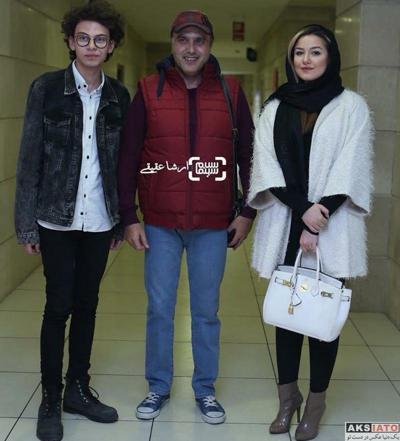بازیگران بازیگران زن ایرانی  علی و آوا جوهرچی در اکران خصوصی فیلم وقتی برگشتم (2 عکس)
