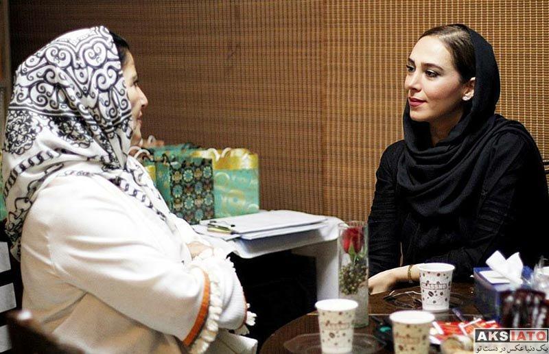 بازیگران بازیگران زن ایرانی  الهام جعفرنژاد  پوری بنایی در بازارچه خیریه باز باران (4 عکس)