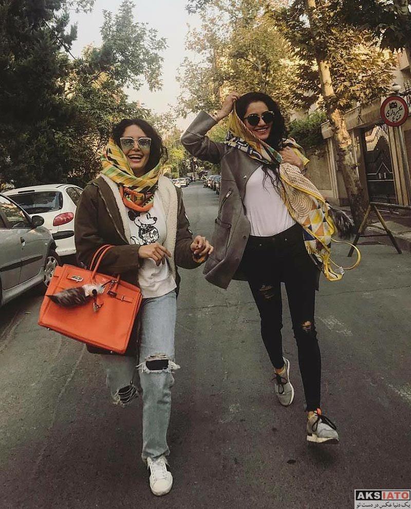 بازیگران بازیگران زن ایرانی  الناز شاکردوست و خواهرش در آبان ماه 96 (2 عکس)
